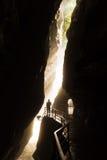 Aareschlucht morgonlampa Royaltyfri Fotografi