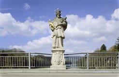 Aargau-Berichts-Schweizer Bezirk-Heiliges J Nepokum-Skulptur Kaiserstuhl lizenzfreie stockfotos
