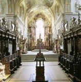 Aargau-Berichts-Schweizer Bezirk-Kloster-Kirche Wettingen-Innenraum stockfoto