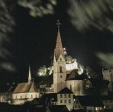 Aargau Report Swiss Canton Old Town Baden with Parish Church stock photography