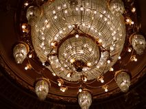 Aarge chandelier in the National Opera Royalty Free Stock Photos