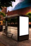 Aarhus-Bushaltestelle HDR Lizenzfreie Stockbilder