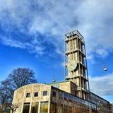 Aarhus Cityhall con la torre immagine stock