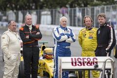 AARHUS, DÄNEMARK - 29. MAI 2016: Alistair Davidson, Barry Walker, am klassischen Rennen Aarhus 2016 Stockfotografie