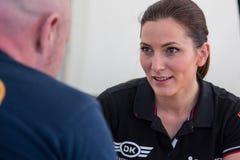 AARHUS, DÄNEMARK - 28. MAI 2016: Molly Pettit #28 - Audi - Dänische Supertourisme am klassischen Rennen Aarhus 2016 Stockbild