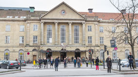 AARHUS, DANEMARK - 14 avril 2015 : Station centrale Photo stock