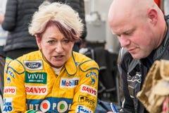 AARHUS, DANEMARK - 28 MAI 2016 : Lorina McLaughlin #19 - Benetton B192 (ex-Michael Schumacher) à la course classique Aarh Images libres de droits