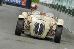 AARHUS, DANEMARK - 18 MAI 2014 : Preben Nygaard dans son sport de Kougar Jaguar à partir de 1970 à la course classique 2014 à Aar Photo libre de droits