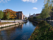 Aarhus in Denmark. The center of town city of Aarhus in Denmark Stock Photography