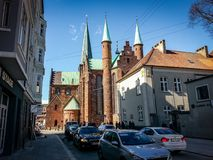 Aarhus Denmark Church Cathedral Scene Stock Images
