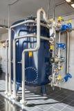 AARHUS, Dinamarca - 13 de abril de 2015: Interior de um sati da estação de tratamento de água Imagem de Stock Royalty Free