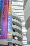 Aarhus, Dinamarca - 12 de abril de 2015: Interior do ARoS Art Museu Fotografia de Stock Royalty Free