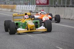 AARHUS, DINAMARCA - 28 DE MAIO DE 2016: Lorina McLaughlin #19 - Benetton B192 (ex-Michael Schumacher) na raça clássica Aarh Fotos de Stock