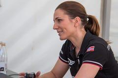 AARHUS, DINAMARCA - 28 DE MAIO DE 2016: Molly Pettit #28 - Audi - dinamarquês Supertourisme na raça clássica Aarhus 2016 Imagens de Stock Royalty Free
