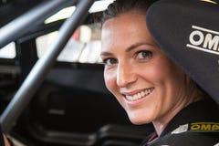 AARHUS, DINAMARCA - 28 DE MAIO DE 2016: Molly Pettit #28 - Audi - dinamarquês Supertourisme na raça clássica Aarhus 2016 Fotografia de Stock