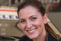 AARHUS, DINAMARCA - 28 DE MAIO DE 2016: Molly Pettit #28 - Audi - dinamarquês Supertourisme na raça clássica Aarhus 2016 Imagem de Stock