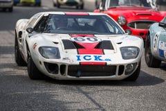 AARHUS, DINAMARCA - 29 DE MAYO DE 2016: Kenneth Persson en Ford GT40, en la raza clásica Aarhus 2016 Imagen de archivo libre de regalías