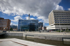 Aarhus-Hafen Stockfoto