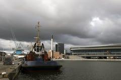 Aarhus-Hafen Lizenzfreies Stockbild