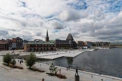 Aarhus-Hafen von Dokk1 Stockbild