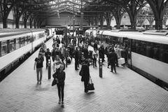 Aarhus-Hauptleitungs-Bahnstation Stockfotos