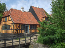 Aarhus Old Town in Denmark. Ancient wooden house in the Old Town in Aarhus, Denmark Royalty Free Stock Photos