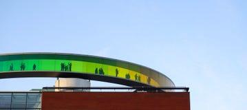Aarhus rainbow panorama Stock Image