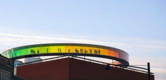 Aarhus-Regenbogenpanorama Lizenzfreies Stockbild