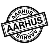 Aarhus rubber stamp. Grunge design with dust scratches. Effects can be easily removed for a clean, crisp look. Color is easily changed Royalty Free Stock Photos