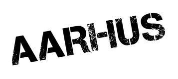 Aarhus rubber stamp. Grunge design with dust scratches. Effects can be easily removed for a clean, crisp look. Color is easily changed Royalty Free Stock Image