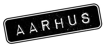 Aarhus rubber stamp. Grunge design with dust scratches. Effects can be easily removed for a clean, crisp look. Color is easily changed Stock Photo