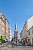 Aarhus-Straßenbild Stockbild