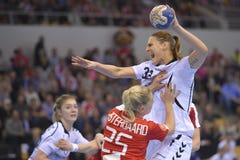Aarhus, torneo olímpico de la calificación de las mujeres Fotografía de archivo