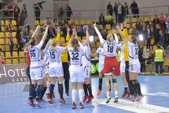 Aarhus, torneo olímpico de la calificación de las mujeres Foto de archivo libre de regalías
