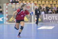 Aarhus, torneo olimpico della qualificazione delle donne Fotografia Stock