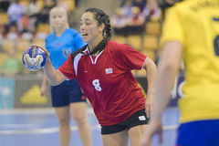 Aarhus, torneo olimpico della qualificazione delle donne Fotografie Stock