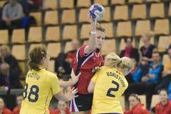 Aarhus, tournoi olympique de la qualification des femmes Images stock