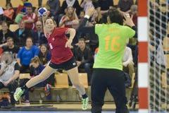 Aarhus, tournoi olympique de la qualification des femmes Image libre de droits