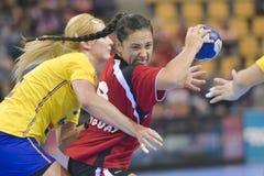 Aarhus, tournoi olympique de la qualification des femmes Photographie stock libre de droits