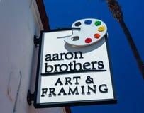 Aaron Brothers Art und Gestaltungsspeicher und Zeichen Lizenzfreies Stockfoto