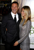 Aaron Eckhart e Jennifer Aniston Foto de Stock Royalty Free
