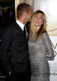 Aaron Eckhart e Jennifer Aniston Fotografia de Stock