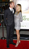 Aaron Eckhart et Jennifer Aniston Photo stock