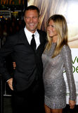 Aaron Eckhart et Jennifer Aniston Photographie stock
