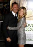 Aaron Eckhart et Jennifer Aniston Image libre de droits