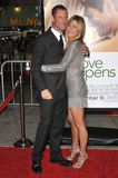 Aaron Eckhart, Jennifer Aniston Image stock