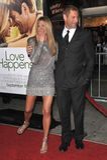 Aaron Eckhart, Jennifer Aniston Lizenzfreies Stockbild