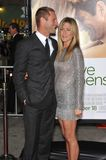 Aaron Eckhart, Jennifer Aniston Photos libres de droits