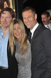 Aaron Eckhart,Jennifer Aniston,Brandon Camp Royalty Free Stock Photo