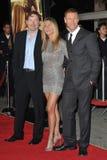 Aaron Eckhart, Jennifer Aniston, Brandon läger Arkivfoto